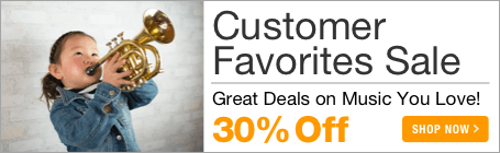 Customer Favorites Sale - 30% off sheet music you love!