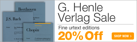 G. Henle Verlag Sale - 20% off fine urtext editions for scholarly and practical use!