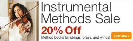 Instrumental Methods Sale - 20% off method books and etides for strings, woodwinds, brass, and percussion!