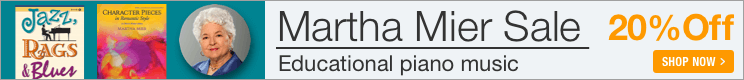 Martha Mier Sale - 20% off educational piano music!