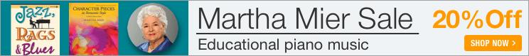 Martha Mier Sale - 20% off educational piano music!