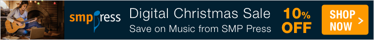 10% Off Christmas sheet music digital downloads from SMP Press!