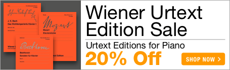 Wiener Urtext Edition Sale - 20% off practical urtext and pedagogical editions for piano!